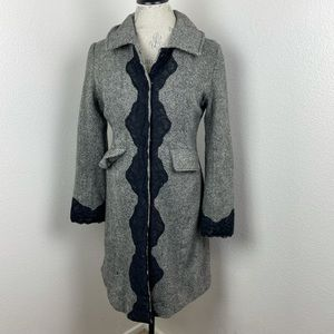 Wool and lace dress coat
